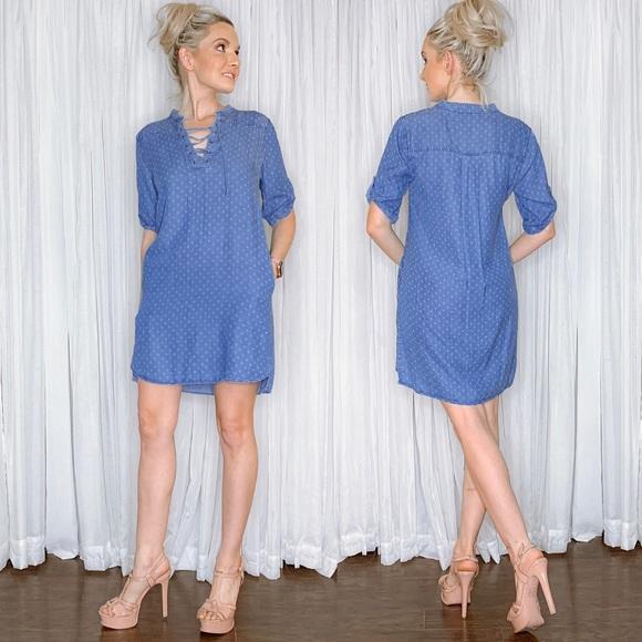 Philosophy Dresses & Skirts - Philosophy Blue Oversized Dress with Pockets